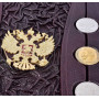 """Подарочная книга """"Деньги России"""" в коробе шкатулке ручной работы в кожаном переплёте"""